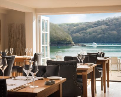 Restaurant at The Old Quay House Hotel, Cornwall