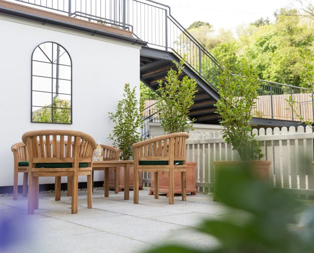 Terrace at Retreat to Fowey's No.2 apartment