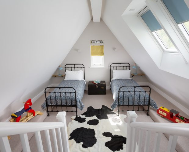 Second bedroom at Retreat to Fowey's No.5 apartment
